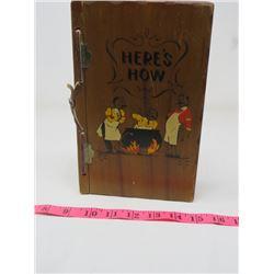 WOODEN BAR BOOK