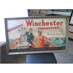 ADVERTISING SIGN (WINCHESTER CIGARETTES)
