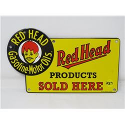 REDHEAD OIL SIGN (REPRODUCTION)