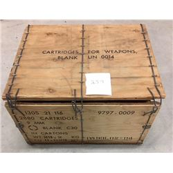 AMMO CRATE ( IVI CANADIAN, 2800 ROUND, BLANK AMMO) *EMPTY*