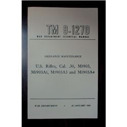US M1903A3 RIFLE MANUAL FROM 1944