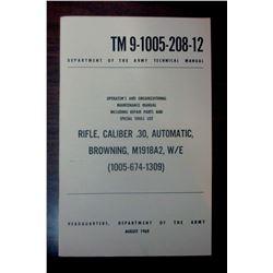 BROWNING M1818A2 MACHINE GUN MANUAL FROM 1969