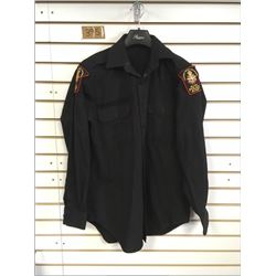 CANADIAN FORCES MILITARY POLICE BLACK SHIRT (MEDIUM)  *MILITARY POLICE PATCHES ON SHOULDERS*