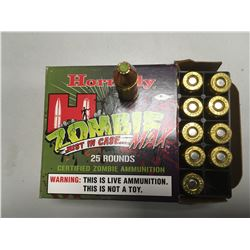 AMMO (HORNADY) *ZOMBIE MAX* (9MM) *LUGER* (115 GRAIN) *Z-MAX* (25 ROUNDS)