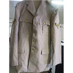 "CANADIAN FORCES DRESS UNIFORM (1985) * 44"" WAIST, 19"" SLEEVES, 34"" SHOULDER-PANTS 30"" WAIST, 31"" INS"
