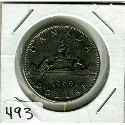 CANADIAN DOLLAR COIN (1969)