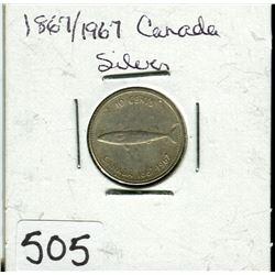 CANADIAN CENTENNIAL 10 CENT PIECE (1867 TO 1967)