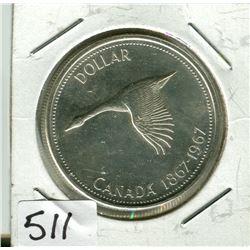 CANADIAN CENTENNIAL DOLLAR (1867 TO 1967)