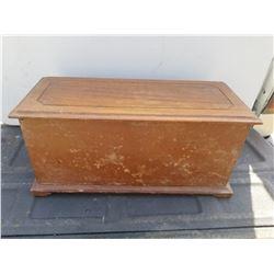 """WOODEN KEEPSAKE BOX 20"""" X 9"""" X 9"""")"""