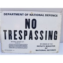 """ORIGINAL DND NO TRESPASSING SIGN (9"""" X 13"""")"""