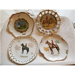 LOT OF 4 COLLECTABLE PLATES (RCMP) *8 INCH*