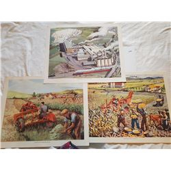 LOT OF 3 ORIGINAL PRINTS ( MACMILLANS) *21X17 INCHES*