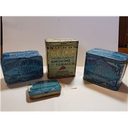 3 DIFFERENT EDGEWORTH & OLD CHUM TOBACCO TINS