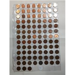 CANADA 1 CENT COIN LOT, LOTS OF VARIETY 1920-2012