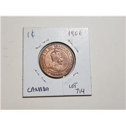 1906 CANADA LARGE PENNY