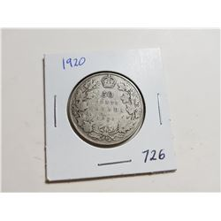 1920 SILVER 50 CENT COIN