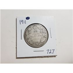 1911 SILVER 50 CENT COIN