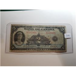 1935 2 DOLLAR BANK NOTE