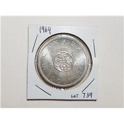 1964 1 DOLLAR SILVER COIN