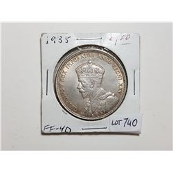 1935 1 DOLLAR SILVER COIN