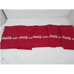 LOT OF 5 COCA-COLA BAR APRONS (RED) *3 POCKET* (CANVAS)