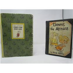 LOT OF 2 BOOKS (WALT DISNEY'S STORIES FROM OTHER LANDS) *1965* (ILLUSTRATIONS AND PHOTOGRAPHS BY THE