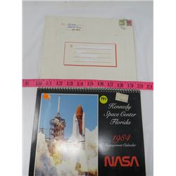 LOT OF 2 CALANDARS (NASA 1984 ENGAGEMENT CALANDAR, JERRY HESHKA, 1981 CANWOOD, SK.)