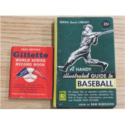 LOT OF 2 BASEBALL BOOKS (WORLD SERIES, GUIDE TO BASEBALL)