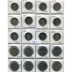 SHEET OF SILVER DOLLARS AND HALF DOLLARS (1969-1982) *CDN*