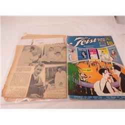 FEIST DANCE FOLIO NO.10, OCTOBER 19TH 1935 OLD NEWSPAPER *MY QUINTS SKETCHBOOK*