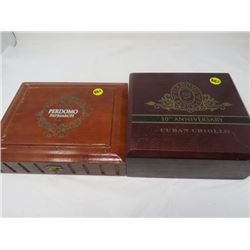 2 PERDOMO CIGAR BOXES (1-10TH ANNIVERSARY CUBAN CRIOLLO & 1 PERDOMO PATRIACH)