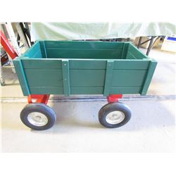 RED AND GREEN WAGON HANDMADE BY GORD BRAATEN