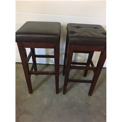 BARSTOOLS (CHERRY FINISH) *2 PIECES*