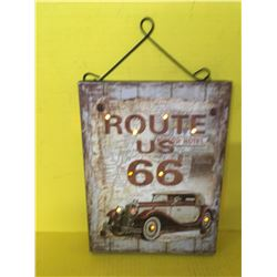 ROUTE 66 SIGN (LITE UP) *NOSTALGIC*