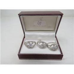 LOT OF RINGS (3 STERLING SILVER) *3 TITANIUM*