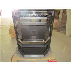 PELLET STOVE (IRON STRIKE, PS 40 NICKEL COUNTRY WINSLOW) *HEATS UP TO 2000 SQUARE FEET* ( RETAIL: $3