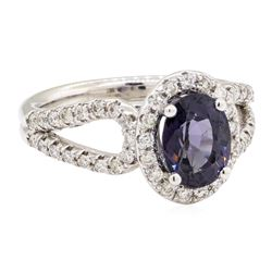 2.41 ctw Lavender Spinel And Diamond Ring - 14KT White Gold