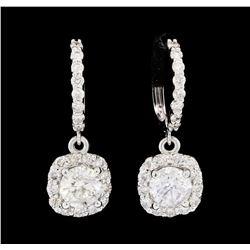 2.72 ctw Diamond Earrings - 14KT White Gold