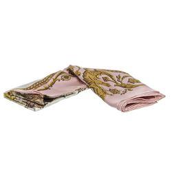 Hermes Pink  Multicolor Silk La Promenade De Longchamps Scarf