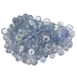 15.31 ctw Round Mixed Tanzanite Parcel