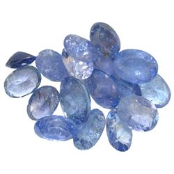 17.89 ctw Oval Mixed Tanzanite Parcel