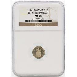 1871 Germany Kreuzer Coin NGC MS66