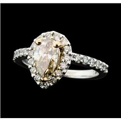 1.71 ctw Diamond Ring - 14KT Rose And White Gold