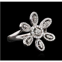 18KT White Gold 0.48 ctw Diamond Ring