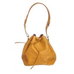 Louis Vuitton Yellow Epi Leather Noe PM Drawstring Bag