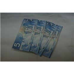 Canada Five Dollar Bills (4)