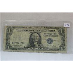 U.S.A. One Dollar Silver Certificate