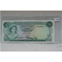 Bahamas One Dollar Bill