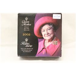 Queen Mother Silver Proof Dollar