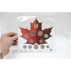 Canada Maple Leaf with Coins